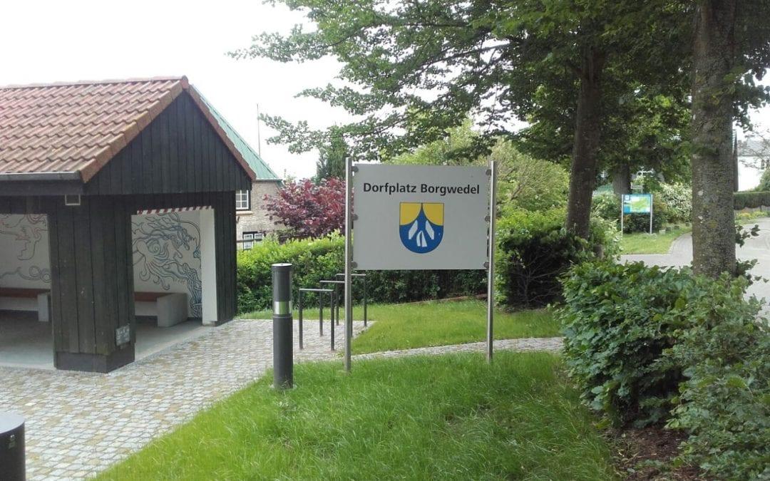 Rast- und Begegnungsplatz in der Ortsmitte Borgwedel