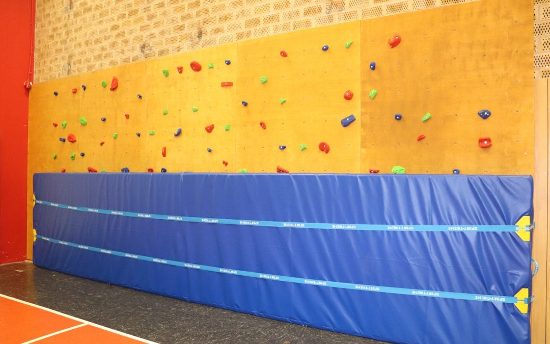 Kletterwand für die Scheersberghalle